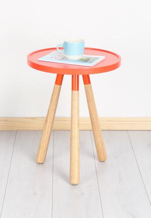 Present Time Table Orbit MDF Wood With Rubber Wood Feet