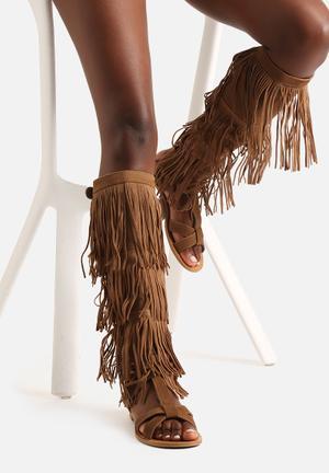 Cape Robbin Waka Sandals & Flip Flops Khaki