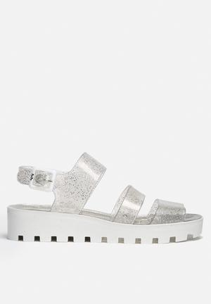 Juju POPPY Sandals & Flip Flops White & Glitter