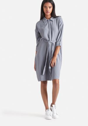 Selected Femme Jano Shirt Dress Formal Grey