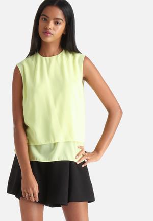 Vero Moda Caroline Top Blouses Yellow