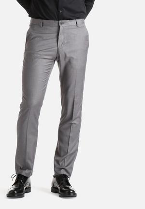Selected Homme Logan Slim Trousers Pants Grey