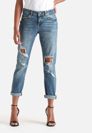 Vero Moda Ten Kneehole Ankle Jeans Medium Blue