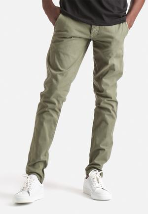 Selected Homme Luca Slim Chinos Green Olive
