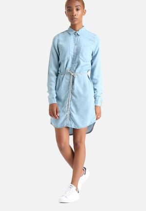 ONLY Henna Shirt Dress Casual Light Blue Denim