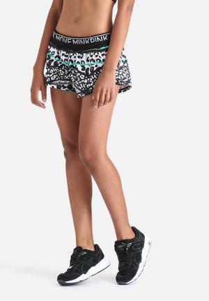 MINKPINK Fierce Jogger Shorts Black & White