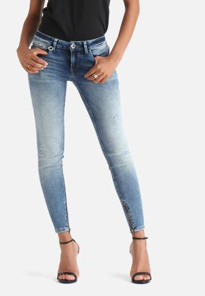 ONLY Carrie Low Ankle Skinny Jeans Medium Blue