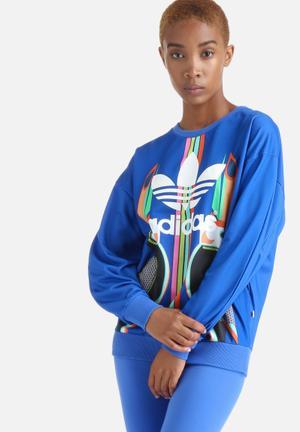 Adidas Originals Tukana Trefoil Sweatshirt Hoodies & Jackets Blue