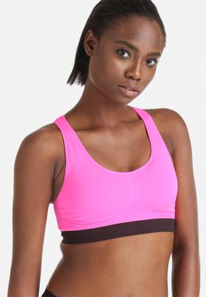 Marie Meili Seamless Racerback Sports Bras Hot Pink