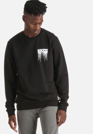 Only & Sons Luci Sweat Crew Hoodies & Sweatshirts Black