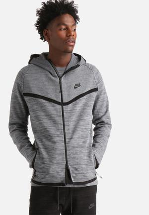 Nike Tech Knit Windrunner Hoodies & Sweatshirts Grey