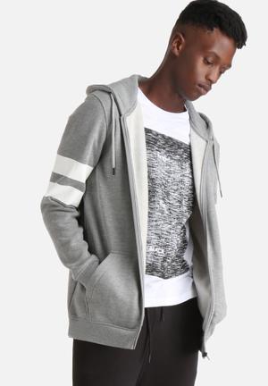Jack & Jones CORE Fox Sweat Hood Hoodies & Sweatshirts Grey