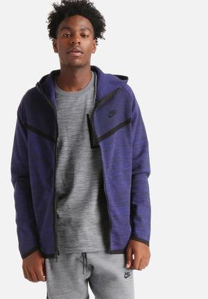 Nike Tech Knit Windrunner Hoodies & Sweatshirts Blue