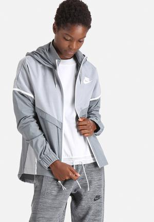 Nike Bonded Windrunner Hoodies & Jackets Grey