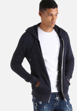 Selected Homme Hank Zip Hoodies & Sweatshirts Navy