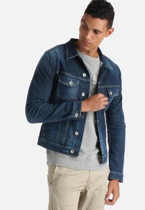 Selected Homme Noel Denim Jacket Blue