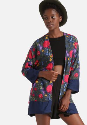 Jacqueline De Yong Rita 3/4 Kimono Jackets Multi Coloured