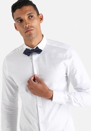 Jack & Jones Premium Derby Bowtie Ties & Bowties Navy Blazer