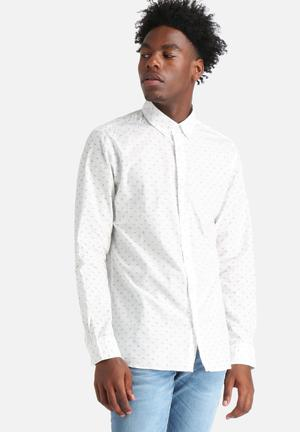 Jack & Jones Originals Bird Slim Shirt  White