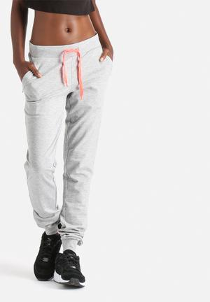 ONLY Play Arlette Slim Sweat Pants Bottoms Light Grey