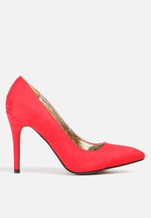 Gino Paoli Court Shoe Heels Red