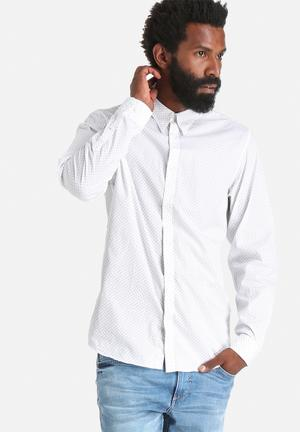 Selected Homme Coy Slim Shirt Bright White