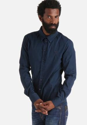 GUESS Classic Stretch Shirt Navy