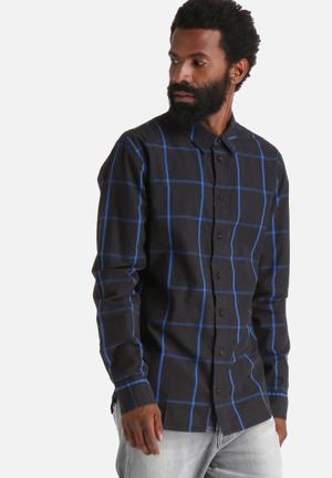 GUESS Parker Check Shirt Night Blue