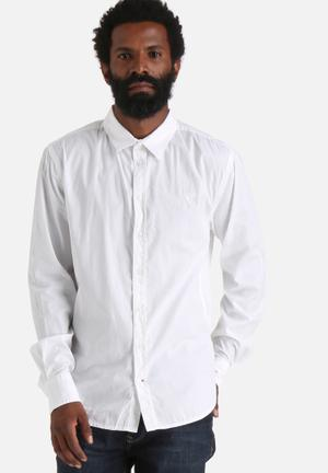 GUESS Classic Stretch Shirt White