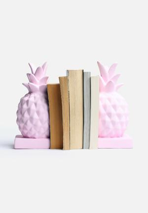 Eleven Past Pineapple Bookend Set Of 2 Accessories Ceramic