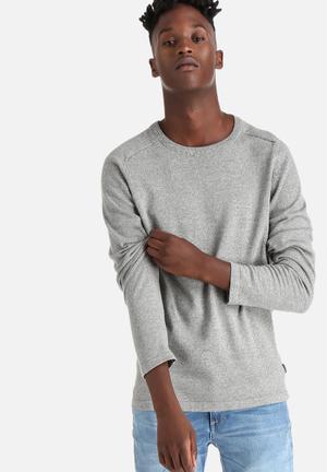 Jack & Jones CORE Simple Crew Knitwear Light Grey Melange