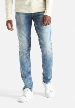 Only & Sons Loom Slim Denim Jeans Medium Blue