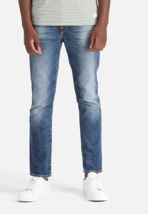 Selected Homme Mario Slim Denims Jeans Medium Blue