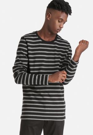 Only & Sons Newmar Crew Knitwear Black / Grey