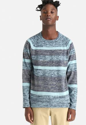 Only & Sons Joseph Crew Knitwear Blue
