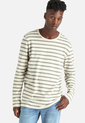 Only & Sons Newmar Crew Knitwear White / Green