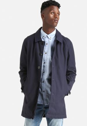 Only & Sons Jules Trench Coats Night Sky