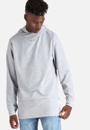 Jack & Jones CORE Jimmy Sweat Hood Hoodies & Sweatshirts Grey Melange