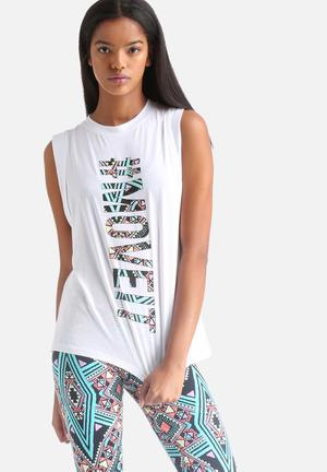 MINKPINK Move It Muscle Tank Top T-Shirts Multi Coloured