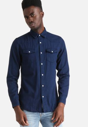 Selected Homme Gale Slim Shirt Dark Blue