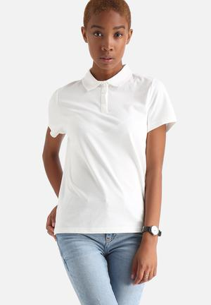 Selected Femme Ulla Polo Shirt T-Shirts, Vests & Camis White