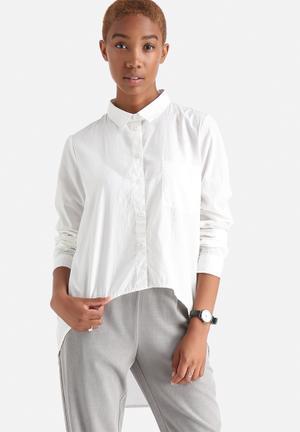 Noisy May Cana High Low Shirt White