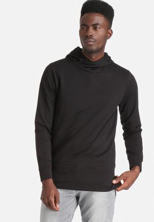 Jack & Jones CORE Jimmy Sweat Hood Hoodies & Sweatshirts All Black