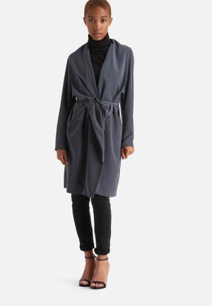 Vero Moda New Louise Trench Coat Blue Grey