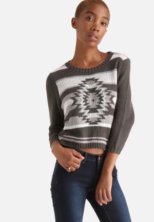 Vero Moda Janey Sweater Knitwear Olive Grey
