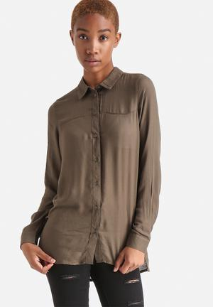 ONLY Radmilla Loose Shirt Dark Olive