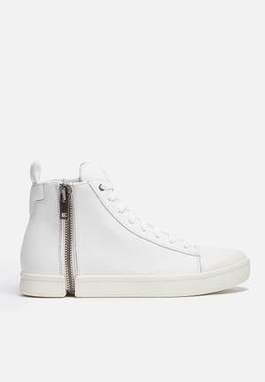 Diesel  Zipround S Nenti Sneakers White