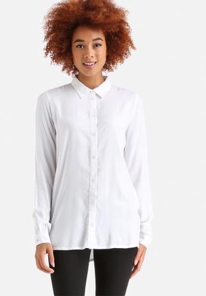 Jacqueline De Yong Arc Button Shirt White