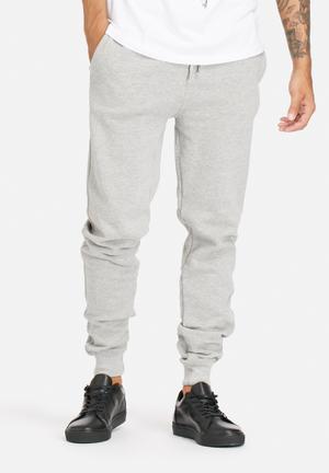 Bellfield Fletcher Joggers Sweatpants & Shorts Grey Marl
