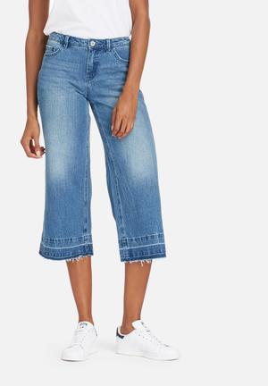 ONLY Bella Regular Long Culottes Jeans Medium Blue